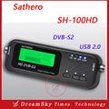 2 pçs/lote Original Bolso Sathero SH-100HD Sentou Localizador de Sinal Digital Via Satélite Localizador de Medidor de Satélite HD com DVB-S2 USB 2.0