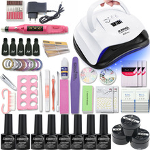 Acrylic Nail Kit Manicure Set for with UV Lamp 80/54W 20000RPM Machine Tool File