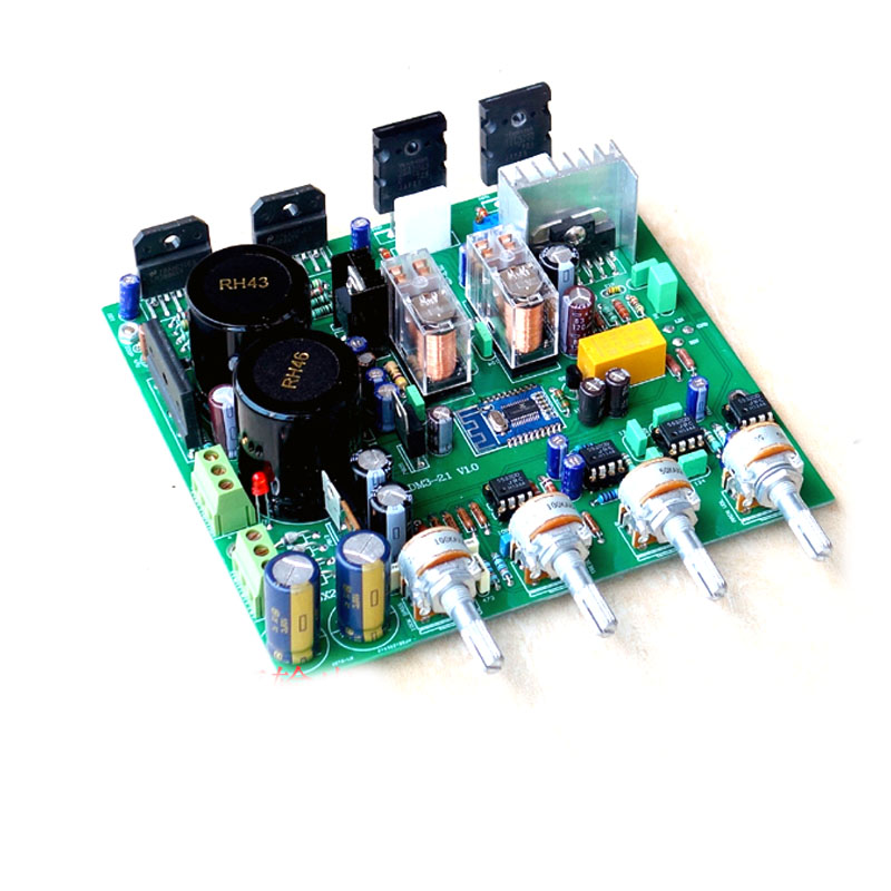 2SC5200 SA1942 150W+68W*2 LM3886 discrete subwoofer 2 1 power amplifier  board kit 4 2 Bluetooth amplifier board With preamp
