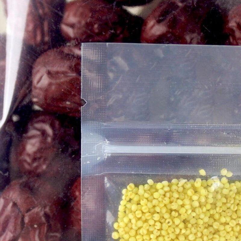 Купить с кэшбэком 100 Pcs Heat Seal Bags PET Zip Lock Plastic Packaging Clear Package Reclosable Self Seal Zipper Resealable Snacks Tea Food Pouch