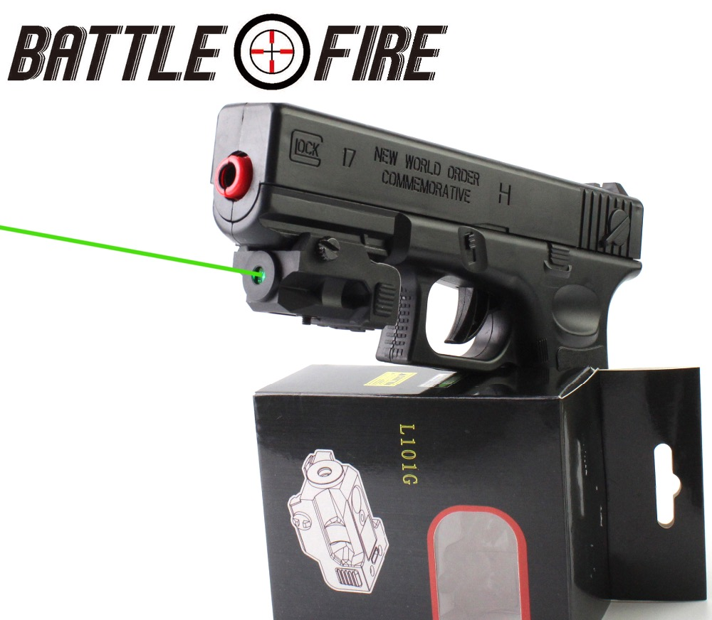 FDA Certified Tactical Sub Compact Micro Rechargeable Green Laser collimator Sight for gun Handgun Pistol Glock 17 hunting