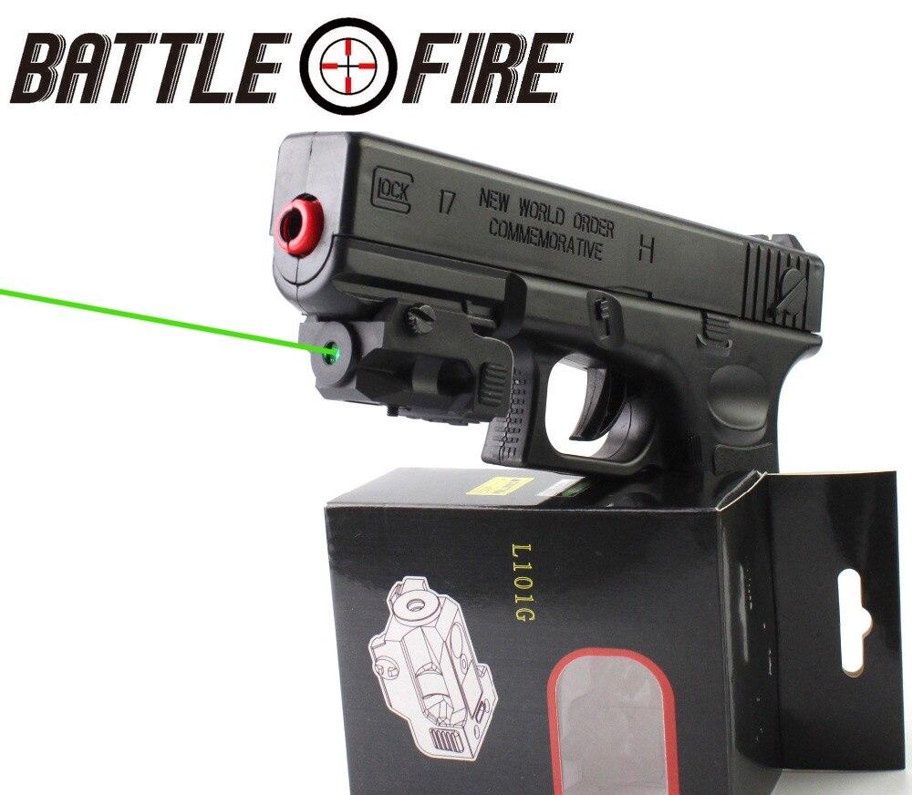 Viseur de collimateur Laser vert Micro Rechargeable sous Compact certifié FDA pour pistolet pistolet pistolet Glock 17 chasse