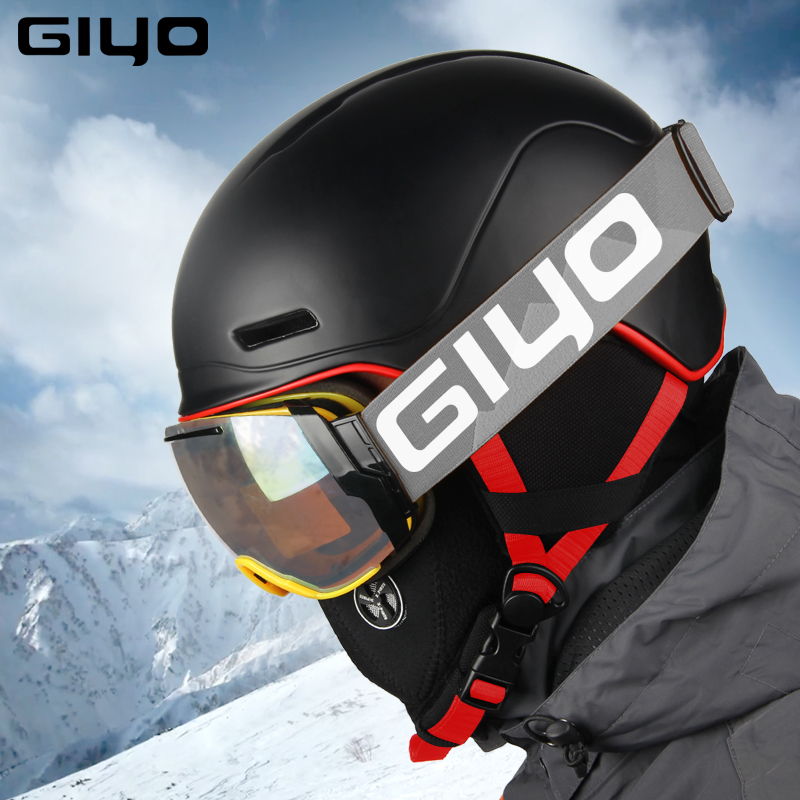Sécurité D'hiver Sports de Plein Air Casque Chaud Snowboard Casques De Ski Hommes Femmes Lumière Accident Neige Casques Moulée Intégralement Skate Casque