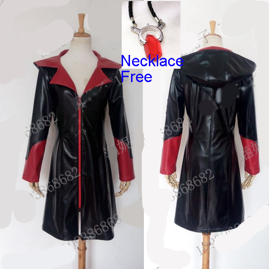 Devil May Cry 5 Dante Costume Cosplay Jacket Men Lady Pu Leather Coat Halloween Christmas Party Costume Free Shipping