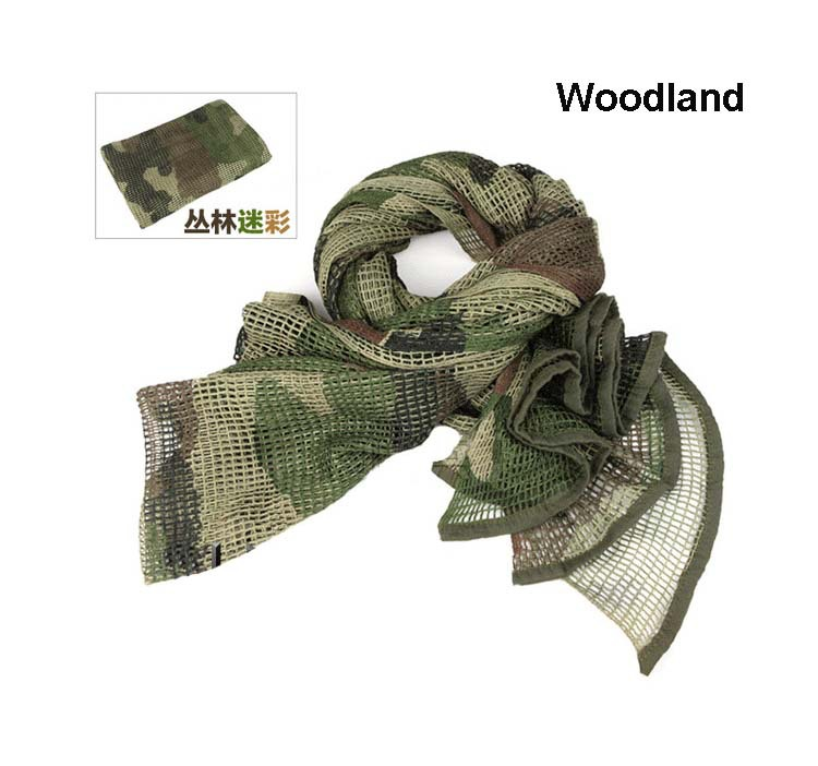 Tactical Camo Mesh Scarf for outdoor Mountain Nomad CP ACU Camouflage Mesh Scarves