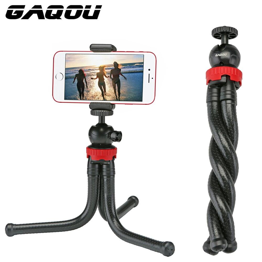 GAQOU Tragbare Stativ Flexible Octopus Reise Mini Handy Stativ Halterung Einbeinstativ Selfie Stick Für iPhone DSLR Kamera Gopro