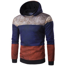New men's fashion Russia old stereo printing street fashion high street a hoodie coat