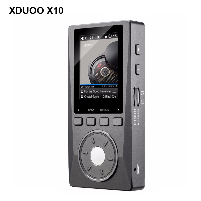 Original XDUOO X10 Portable High Resolution Lossless DSD DAC Music Player DAP Support Optical Output MP3 + Free Leather Case