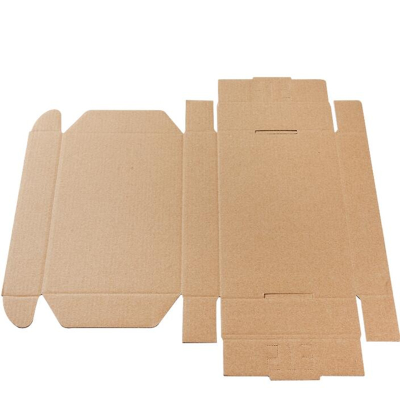 Image 3 - Retail 23*16*6cm 10pcs/lot Brown Paper Kraft Box Post Craft Pack Boxes Packaging Storage Kraft Paper Boxes Mailing Box PP774-in Gift Bags & Wrapping Supplies from Home & Garden