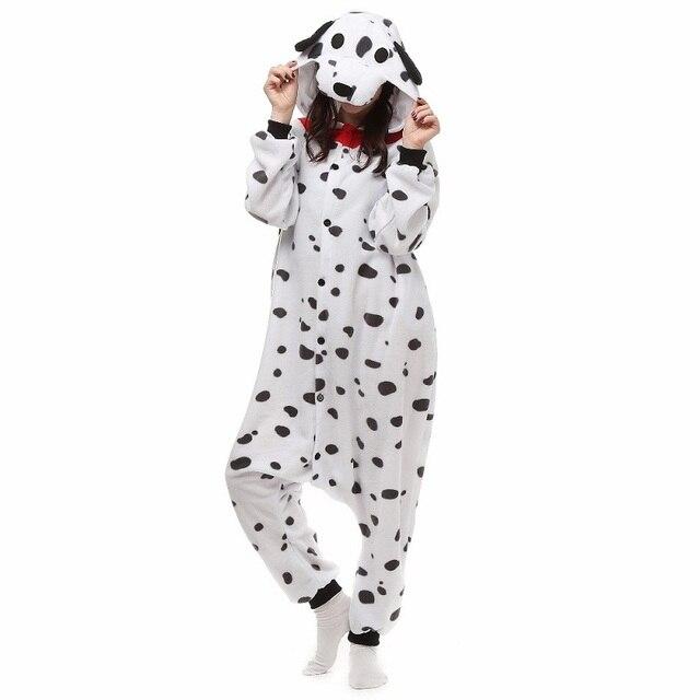 e52dfb0fefe US $22.64 10% OFF|Kerst Halloween Verjaardagscadeau Dalmatische Spotty Hond  Fleece Onesie Homewear Capuchon Pyjama Nachtkleding Gewaad Voor ...