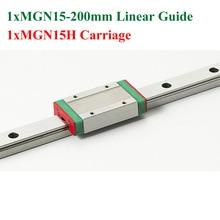 Новый Мини Линейная Направляющая MGN15 15 мм Линейный Длина Рельса 200 мм Слайд Стали С MGN15H Блоков ЧПУ