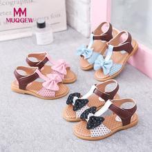 Для малышей, новорожденных, маленьких детские сандалии для принцессы для девочек, с украшением в виде банта один Крупные девушки босоножки Туфли для принцессы сандалии# G8