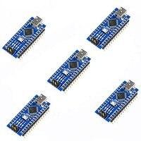Hot Sale 5pcs Nano 3 0 ATmega328P Controlador Compatible Con Arduino NANO CH340 Turno USB Controlador