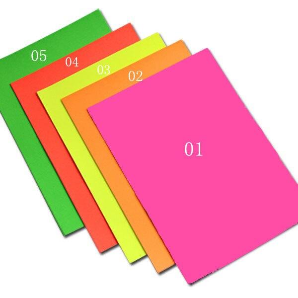 25 hoja práctico A4 fluorescente de color verde etiquetas ...