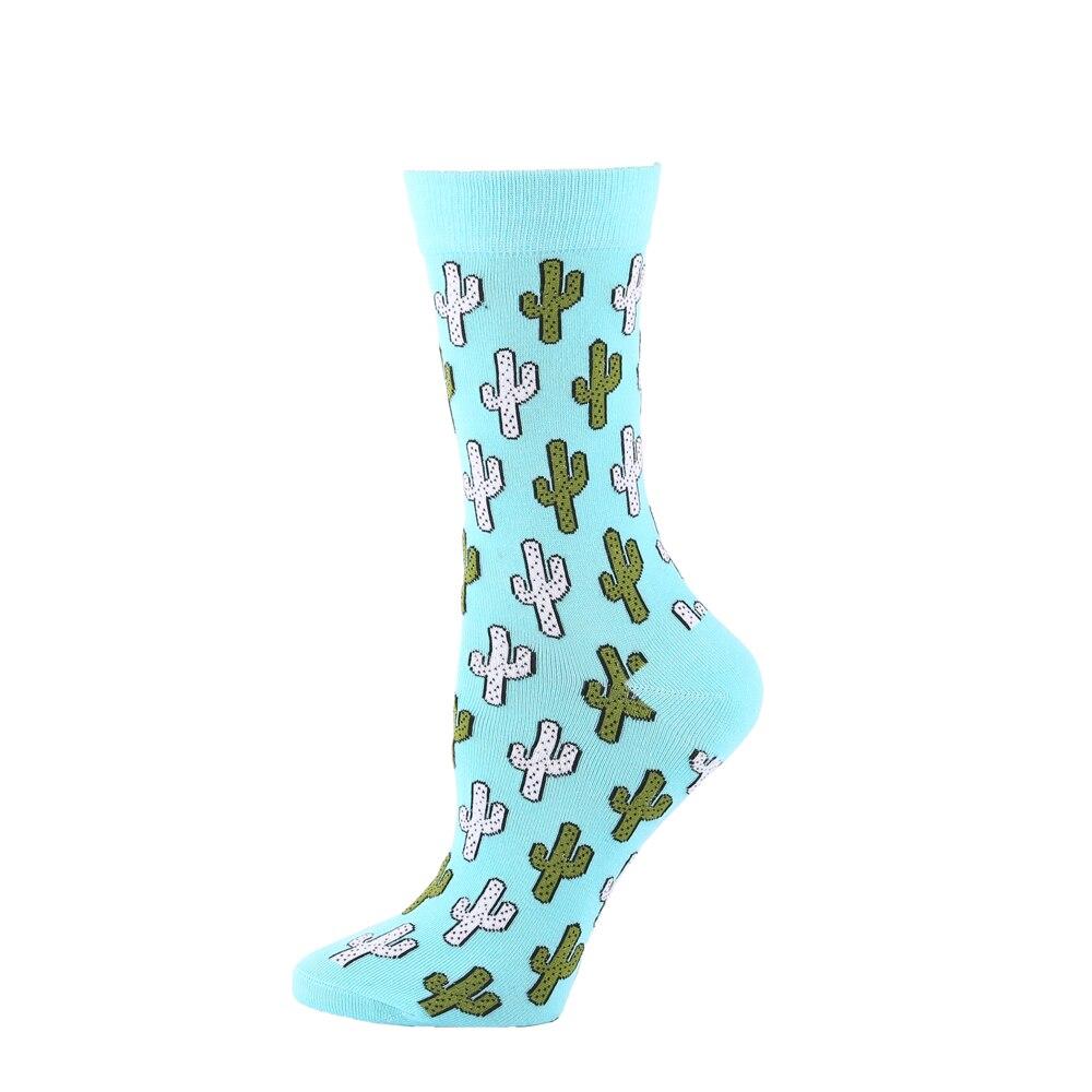 Cute Green Cactus Plant Socks Mens Womens Casual Socks Custom Sports Socks Creative Fashion Crew Socks