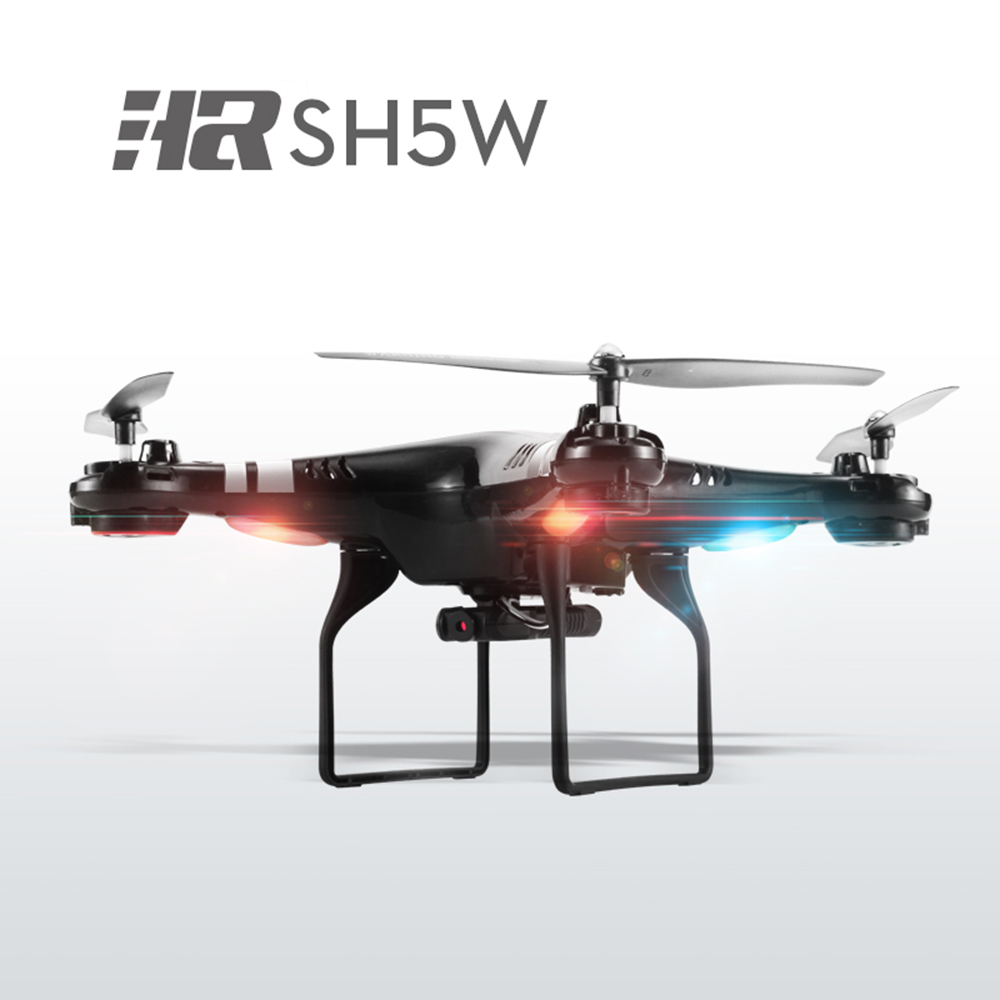 SH5W RC Drone 2.0MP Camera WiFi FPV 2.4G 4CH 6-Axis Gyro RC Quadcopter RTF Headless Mode 3D Eversion 120 M Distance With Light jjrc h11wh micro drone 4ch 6 axis gyro wifi fpv 3d flip set height quadcopter rc mini drone with 2 0mp hd camera headless mode