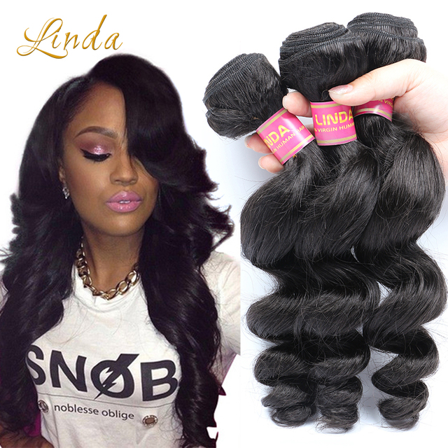 7a Brazilian Virgin Hair Loose Wave Brazillian Human Hair Weave