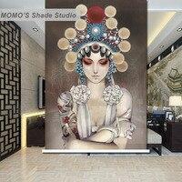 Momo京劇窓カーテンローラーシェードブラインド熱絶縁されたブラックアウトファブリックカスタムサイズ、アリス241-244