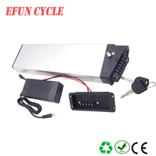 Free shipping on sale new arrival silver folding bike 48V 10Ah Li-ion  rechargeable battery pack for folding ebike/women ebike