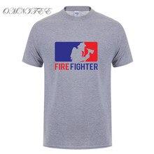 cb1b3fc0 Summer Fashion Fireman T Shirts Gift for Mens Short Sleeve Cotton Firefighter  T-shirt Mens