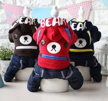 New arrival dogs cats cute cartoon jumpsuits doggy autumn winter tracksuits clothes puppy overcoat pet dog cat hoodies 1pcs