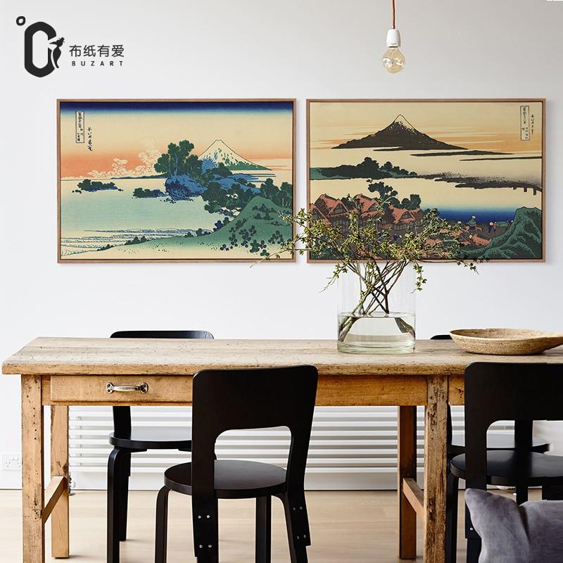Ukiyo-e japonské umění Vintage domácí výzdoba obývacího domu Nástěnné obrazy plátno malba Barevný plakát Historie NE Rám