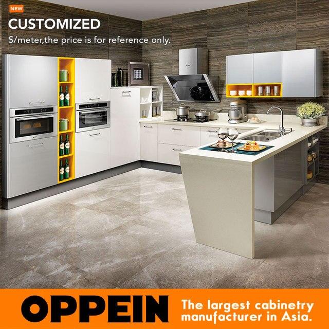 € 393.79 |Gabinete de cocina Nuevo Modelo de la fábrica de guangzhou diseño  moderno gabinete de cocina laquer OP15 011 en Armarios de cocina de ...