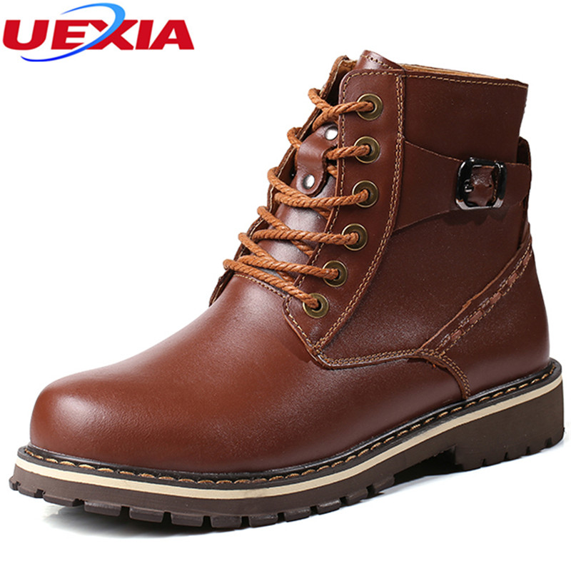 High Quality New Style Men Boots Plus Size 37~50 Work Fur Ankle Boots Fashion Winter Men Shoes Super Warm Winter Shoes Handmade цена