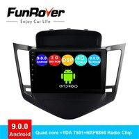 FUNROVER 2 din android 9,0 автомобильный Радио мультимедийный плеер для Chevrolet Cruze 2009 2014 dvd gps навигация navi авторадио DSP 2.5D