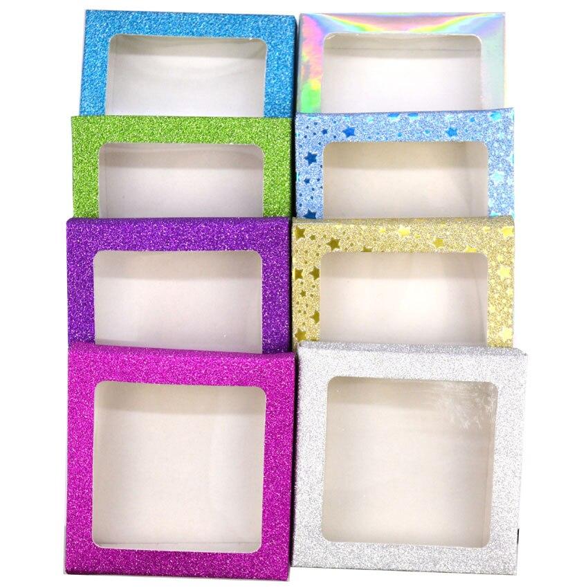 Image 5 - 10set/lot Packing box for eyelash blank eyelashes package Multicolor paper box white tray 25mm Eyelashes DIY Shining packing box-in False Eyelashes from Beauty & Health