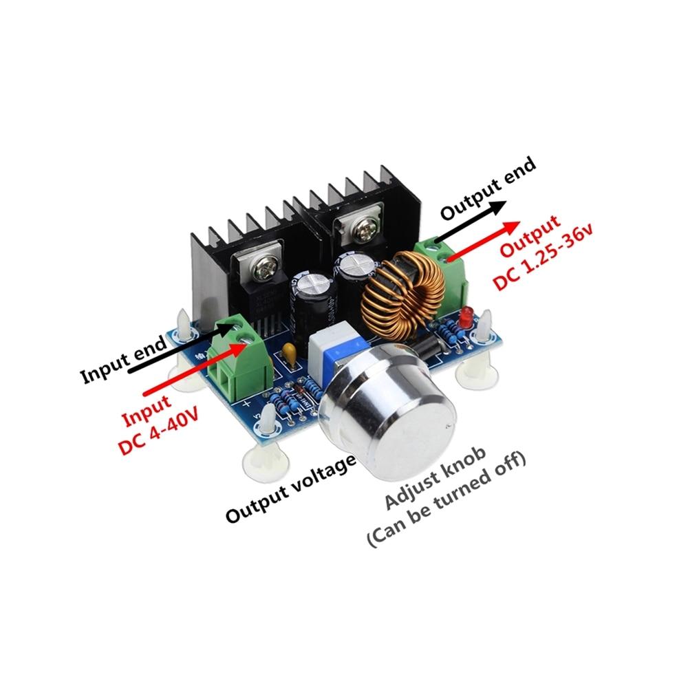Convertisseur de puissance à bascule, Module dalimentation électrique, XL4016E1, PWM réglable 4-40V à XH-M401/DC-DC/36V, panneau de commande 8a 1.25 W