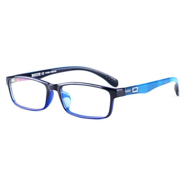 Toptical Ultra light TR90 Glasses Full Frame Square Eyeglasses Myopia Plain Eyewear Male Women Brand Design