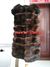 New style real fox fur vest female models real fur vest women fox fur coats