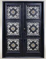Sprzedaż hurtowa kutego żelaza drzwi wejściowe żelazne żelaza podwójne drzwi wejściowe żelazne żelaza drzwi wejściowe żelazne żelaza drzwi wejściowe na sprzedaż hc23