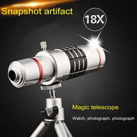 Cellphone Mobile Phone 18x Camera Zoom Optical Telescope Telephoto Lens 25mm Large Lens Dual Red Circles