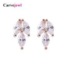 Carvejewl stud earrings horse eye Cubic Zirconia silver plating stud earrings for women jewelry girl gift cute bijoux wholesale цена