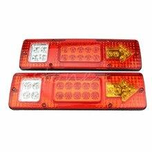 Новинка; Лидер продаж 2 шт. 12 V 19 светодиодный автомобильный прицеп сзади хвост стоп световой индикатор поворота лампа