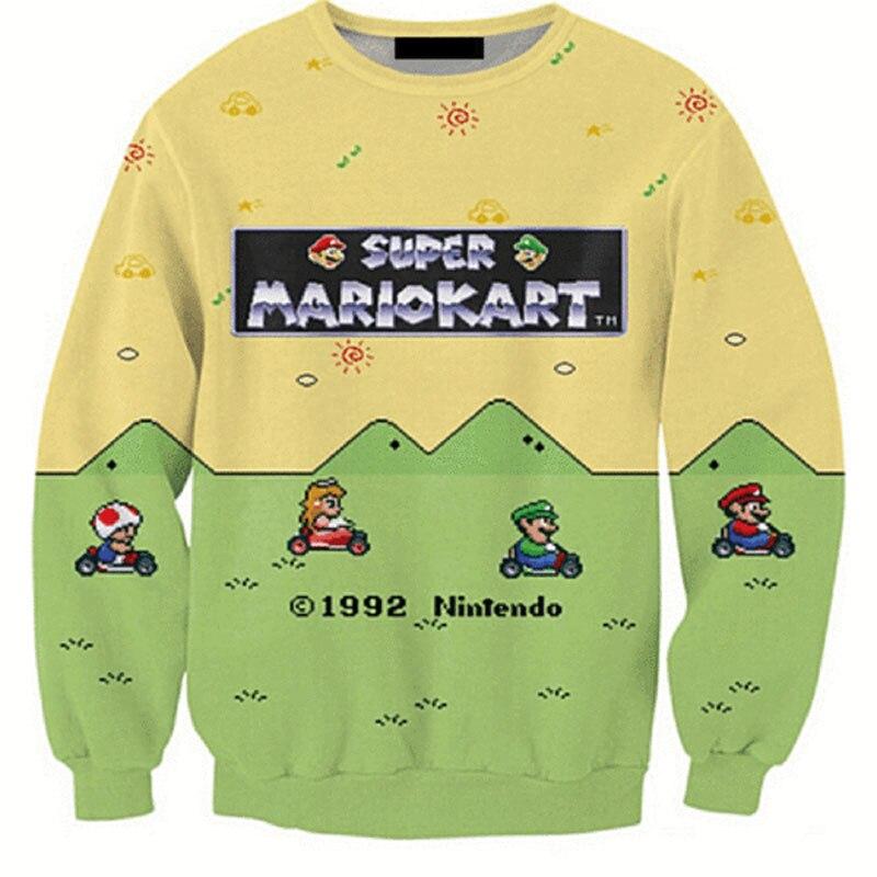 Cloudstyle 2020 Men 3D Sweatshirt Men Super Mario Game 3D Anime Print Jumpers Streetwear Casual Pullovers Popular Top Tracksuits