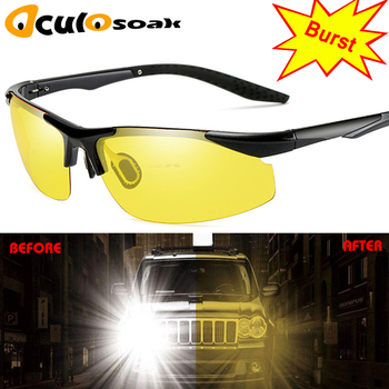 Car Night Vision Driver Goggles Polarized Sunglasses Unisex Sun Glasses Eyewear UV Protection Car Driving Glasses leepee polarized sun glasses anti uva uvb driver goggles clip on sunglasses interior accessories driving night vision lens