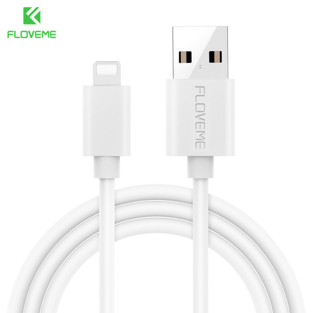 newest 93f4a eb87b US $1.59 30% OFF|FLOVEME For iPhone 7 Lightning Cable USB Charging for  iPhone Cables Mobile Phone Charger Cable For iPhone 5s 6 7 8 X iPad Air  2-in ...