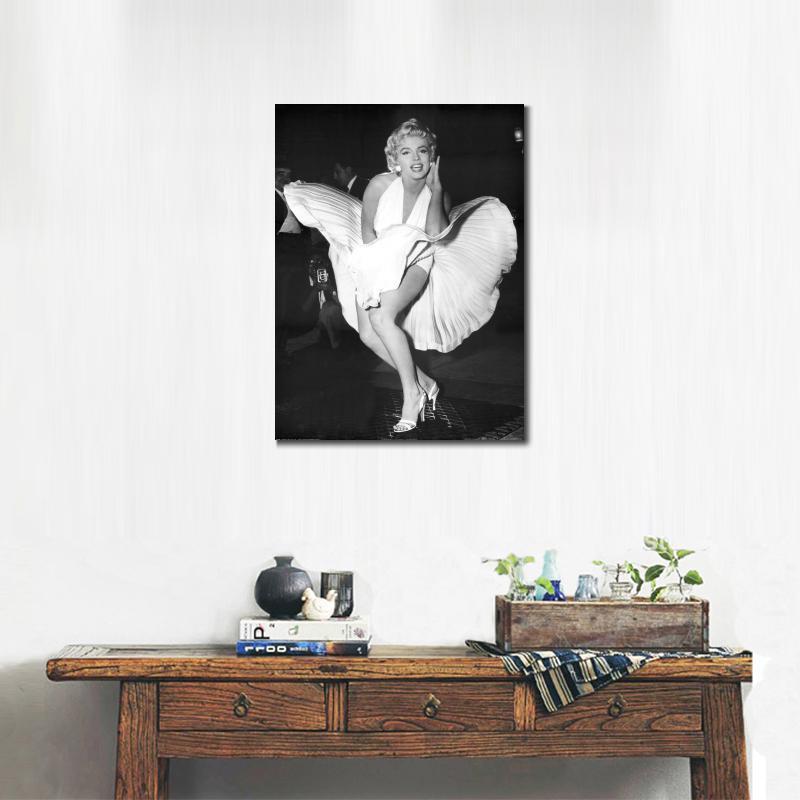 Muur Canvas Prints marilyn monroe verjaardag jurk foto posters Voor ...