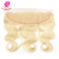 QUEEN BEAUTY HAIR Brazilian Remy Human Hair 613 Blonde Lace Frontal Closure Free Part Body Wave