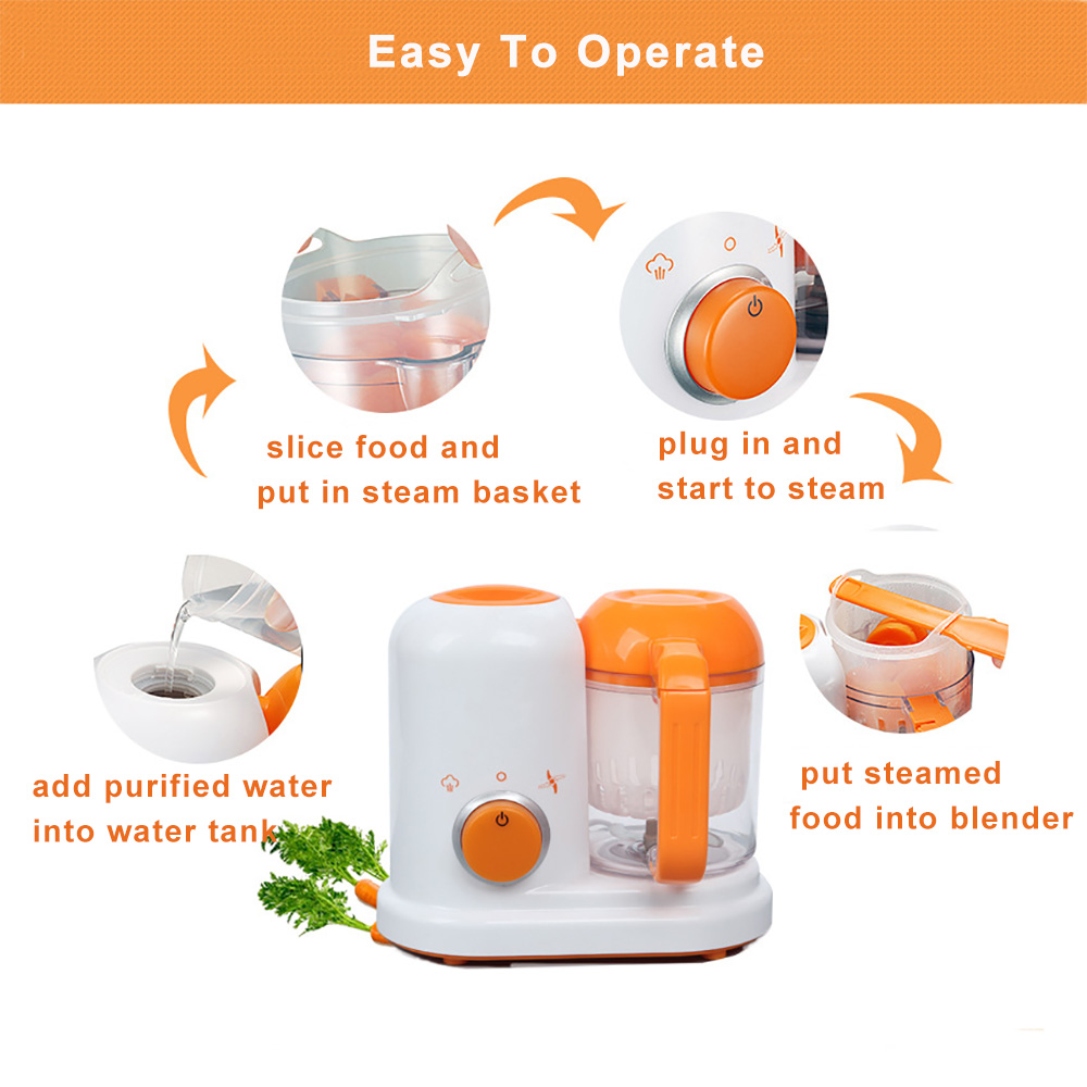 Baby Food Maker 4 in 1 Steam Cooker Blender Processor Baby Feeding Maker Organic Food Best for Toddlers and Infants  (4)