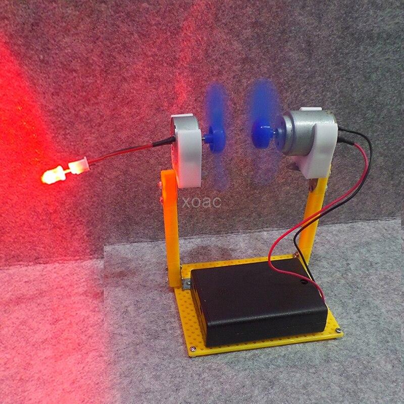 Electric Generator Motor Energy Wind Turbine Power Mini Kids LED Education DC AC In Stock M10 dropship