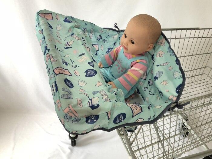 Младенческий супермаркет корзина для покупок, чехол для детского сиденья, анти-грязный чехол, детское сиденье для путешествий, подушка, не грязный, портативный - Цвет: Blue Sailing Boat