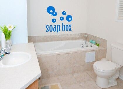 Adesivi per piastrelle bagno impermeabile bolle di sapone bagno