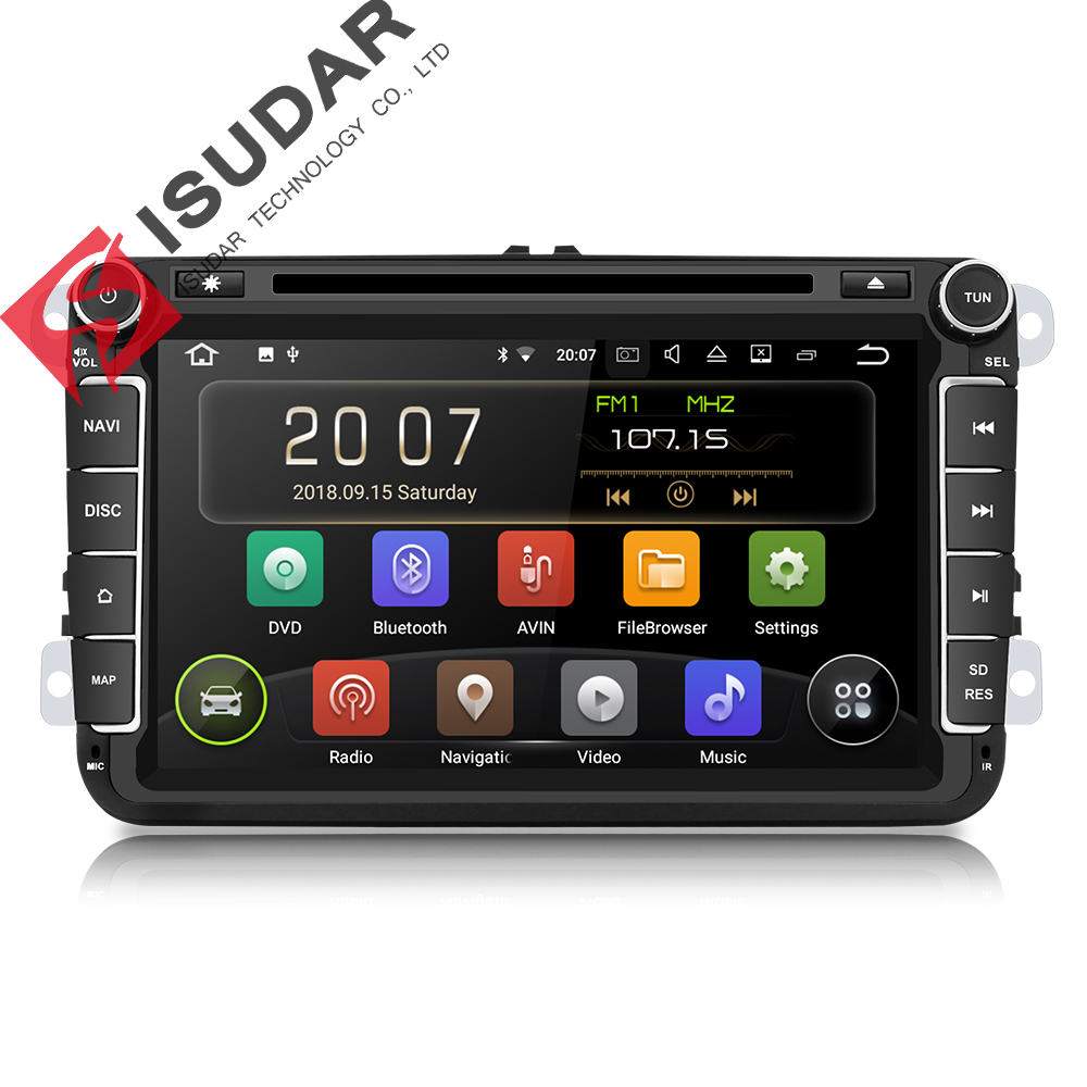isudar car multimedia player android 8 1 2 din auto dvd for volkswagen vw passat polo golf cc. Black Bedroom Furniture Sets. Home Design Ideas