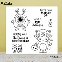 Little monster/Cute cat Transparent Silicone Stamp for DIY Scrapbooking/Photo Album Decorative Card Making Clear Stamps Supplies