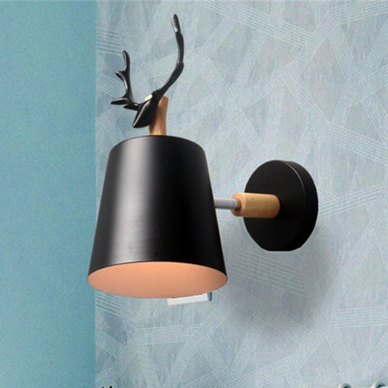 wooden wall lights bedside wall lamp wall sconce modern wall light for bedroom Nordic macaroon 6 color steering head E27 85-285Vwooden wall lights bedside wall lamp wall sconce modern wall light for bedroom Nordic macaroon 6 color steering head E27 85-285V