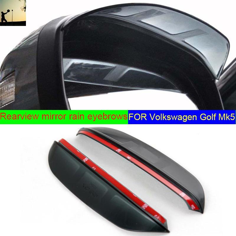 Style de voiture POUR Volkswagen Golf 5 Mk5 2004-2009 Rétroviseur Pluie Sourcils Miroir Réfléchissant Miroir Latéral Pluie Visière